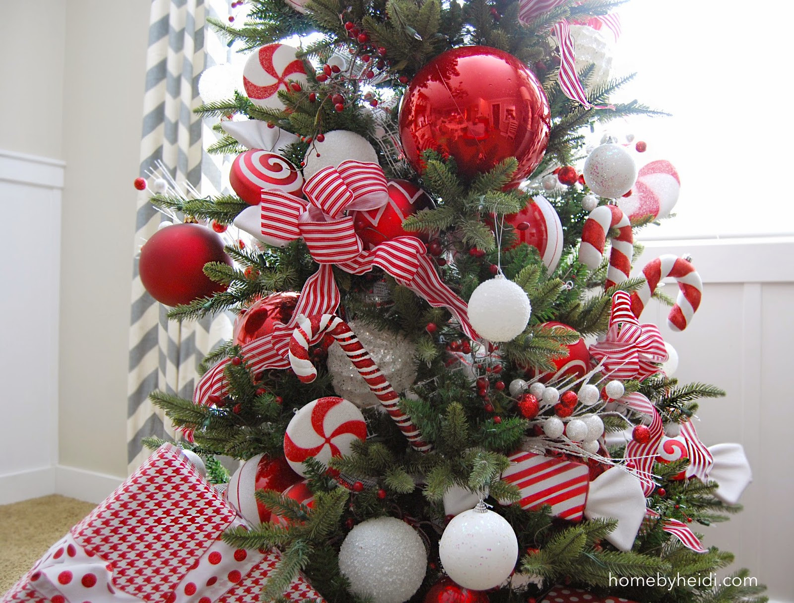 Candy Canes On Christmas Tree  Home By Heidi Candy Cane Christmas Tree