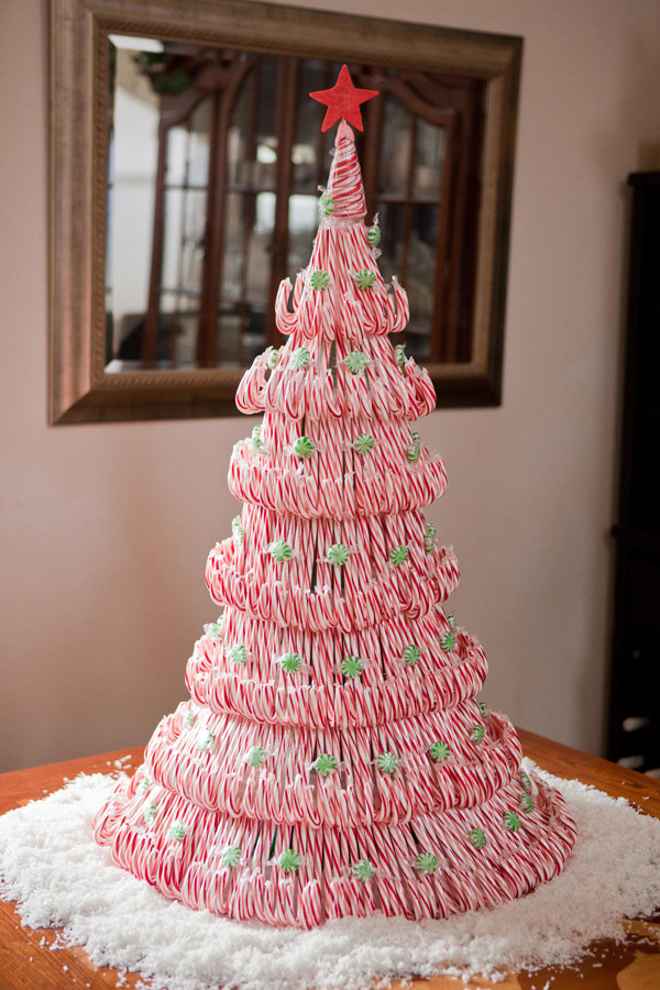Candy Canes On Christmas Tree  Olive and Love Candy Cane Christmas Tree