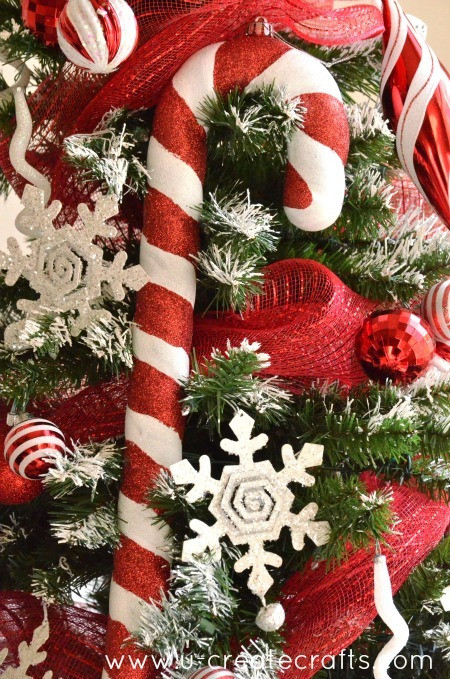 Candy Canes On Christmas Tree  Peppermint Christmas Tree