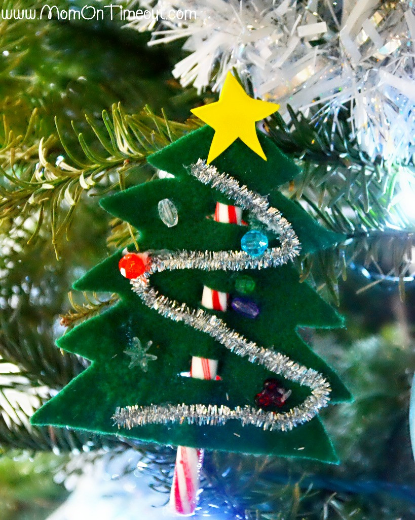 Candy Canes On Christmas Tree  Candy Cane Christmas Trees Craft Mom Timeout