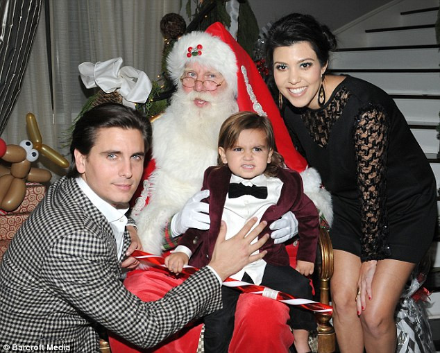 Candy Christmas Divorce  Kim Kardashian s a visit from Santa at her glamorous