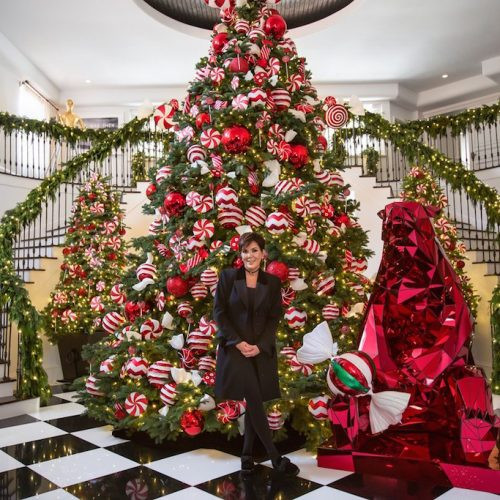 Candy Christmas Divorce  House Goals Kris Jenner s Christmas Decorations Harper