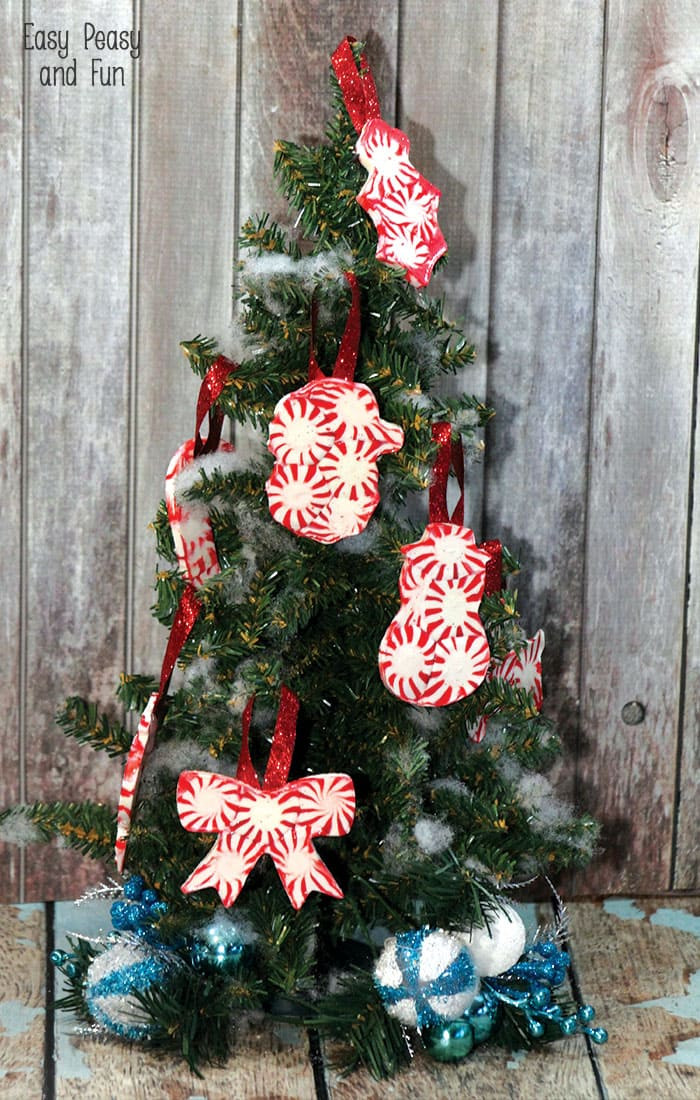 Candy Christmas Ornaments To Make  Peppermint Candy Ornaments DIY Christmas Ornaments