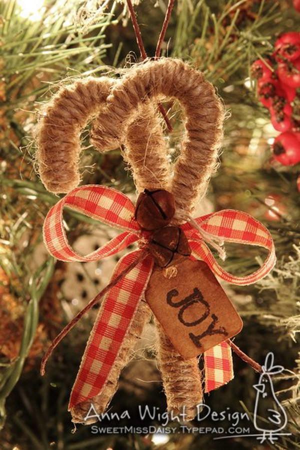 Candy Christmas Ornaments To Make  20 Homemade Christmas Decoration Ideas & Tutorials Hative