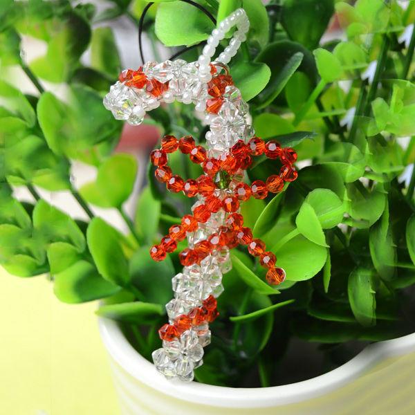 Candy Christmas Ornaments To Make  Make Beaded Candy Cane Christmas Ornaments