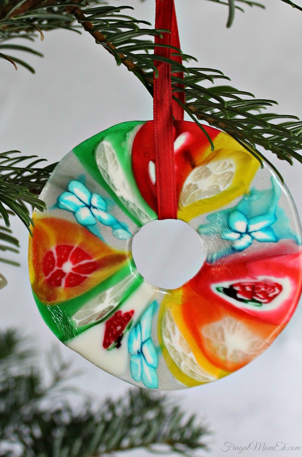 Candy Christmas Ornaments To Make  Melted Candy Christmas Ornament Craft
