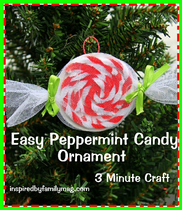 Candy Christmas Ornaments To Make  Easy Christmas Ornament Craft Peppermint Candy Inspired