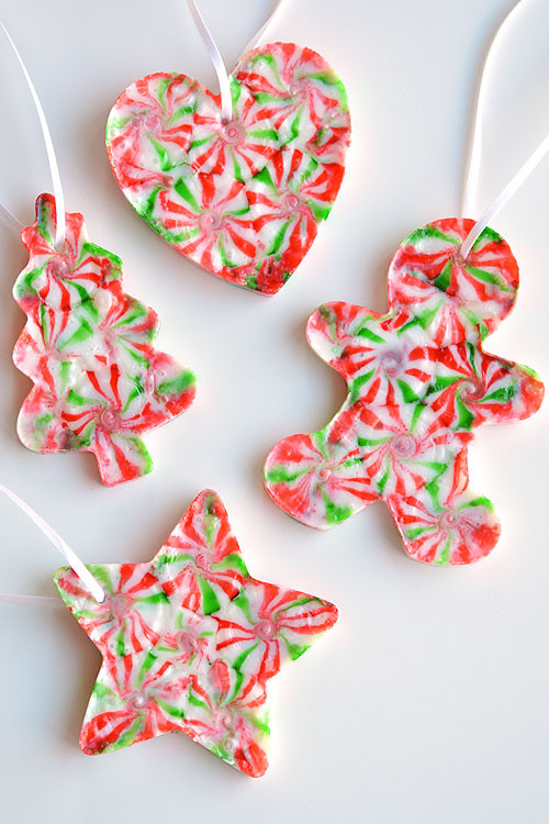 Candy Christmas Ornaments To Make  Melted Peppermint Candy Ornaments