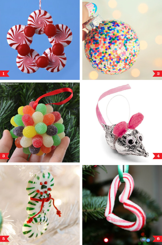 Candy Christmas Ornaments To Make  DIY Christmas ornaments made from candy