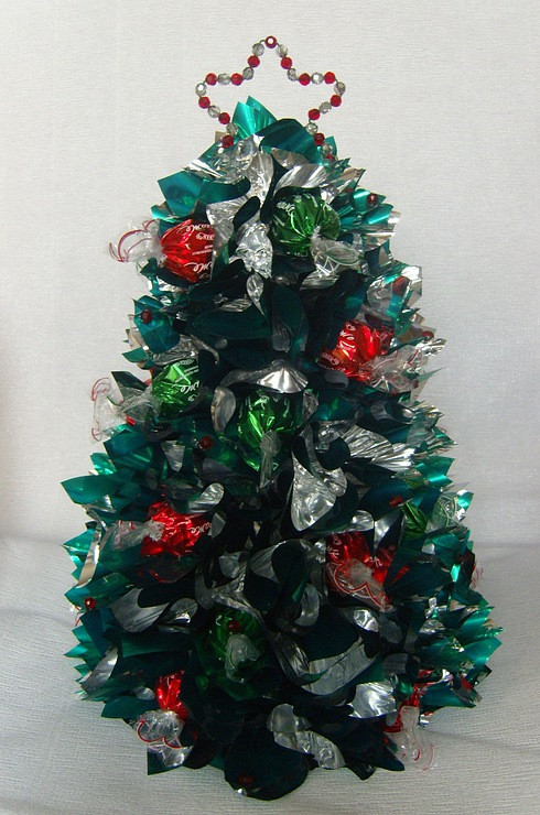Candy Christmas Tree Craft  new year ts decorating champagnes candy christmas