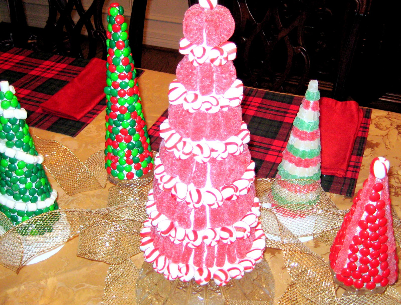 Candy Christmas Tree Craft  Christmas C R A F T 6 Candy Trees C R A F T