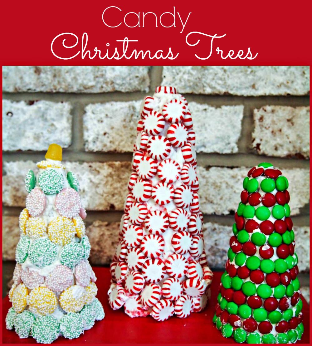 Candy Christmas Tree Craft  Candy Christmas Trees Upstate Ramblings
