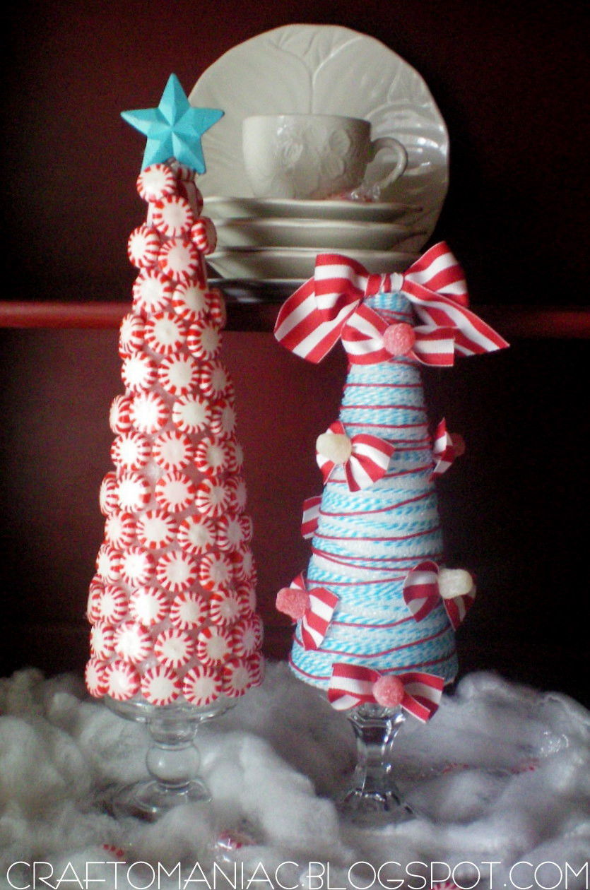 Candy Christmas Tree Craft  Christmas Craft Whimsical Candy Ribbon Trees Craft O
