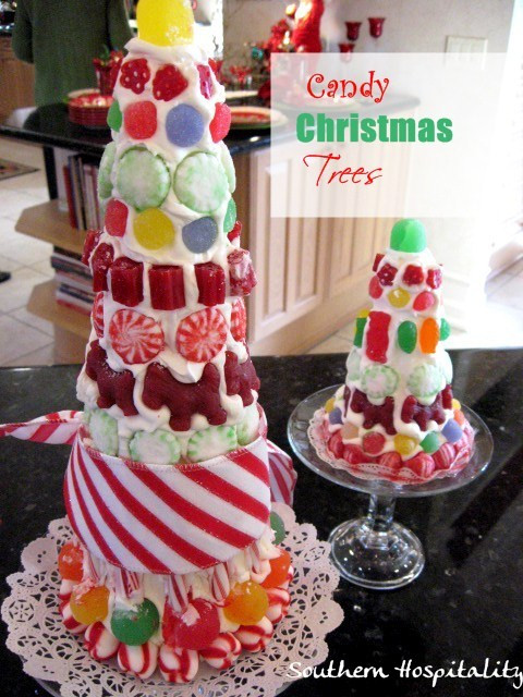 Candy Christmas Tree Craft  how to make candy christmas trees