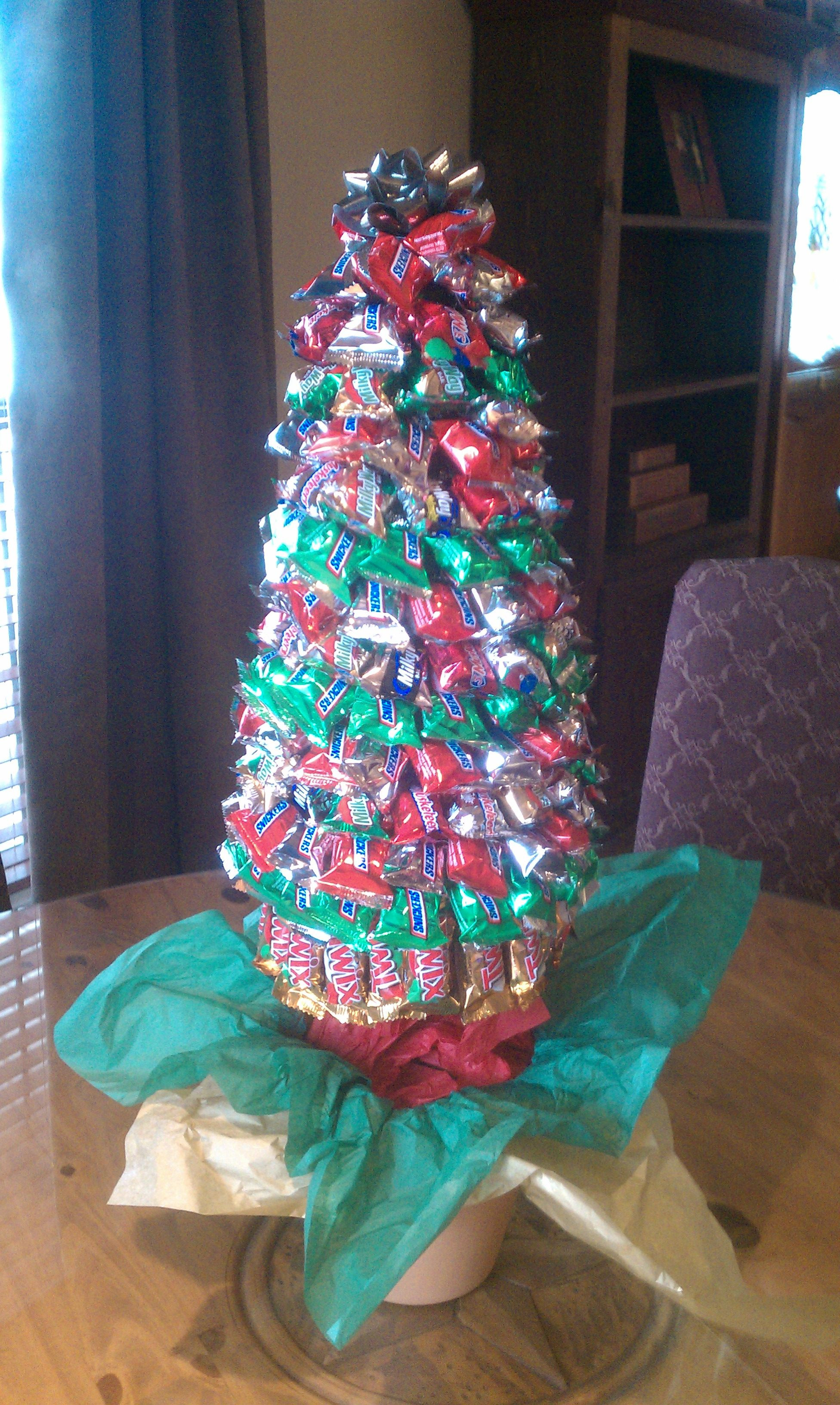 Candy Christmas Tree Craft  Lori s Christmas Candy Tree crafts
