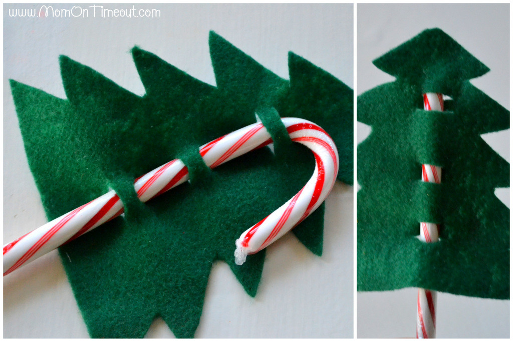 Candy Christmas Tree Craft  Candy Cane Christmas Trees Craft Mom Timeout