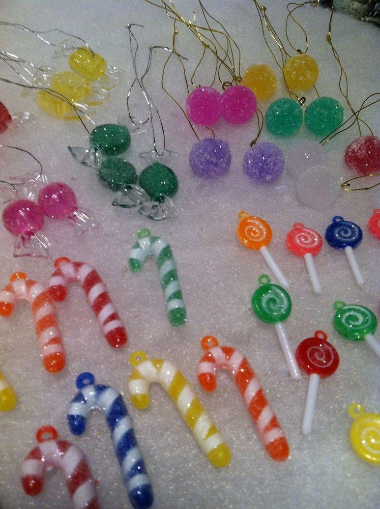 Candy Christmas Tree Ornaments  48pc Mini Sugar Coated candy Christmas Tree Ornaments