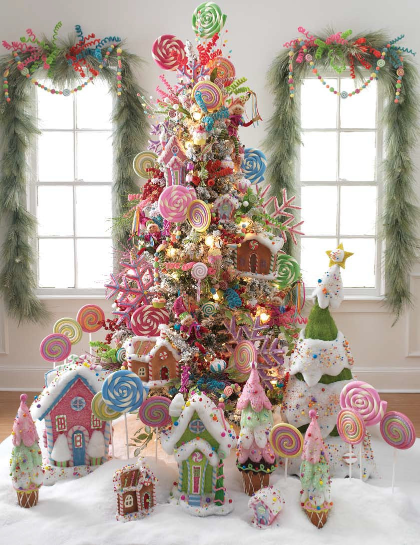 Candy Christmas Tree Ornaments  RAZ Christmas at Shelley B Home and Holiday Lollipop