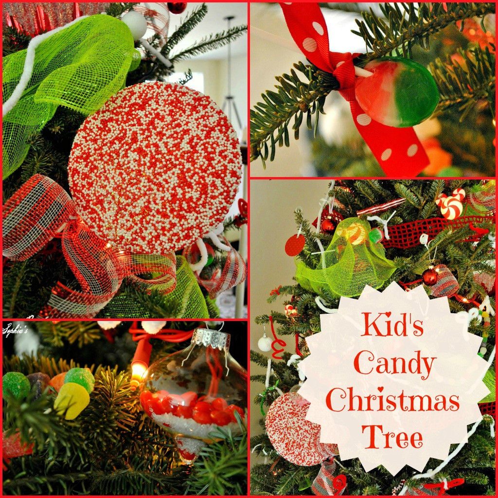 Candy Christmas Tree Ornaments  Sophia s Kid s Candy Tree & DIY Sprinkles Ornaments