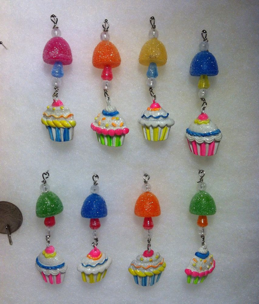 Candy Christmas Tree Ornaments  Mini Gumdrop Candy w cupcake Icicle Christmas Tree