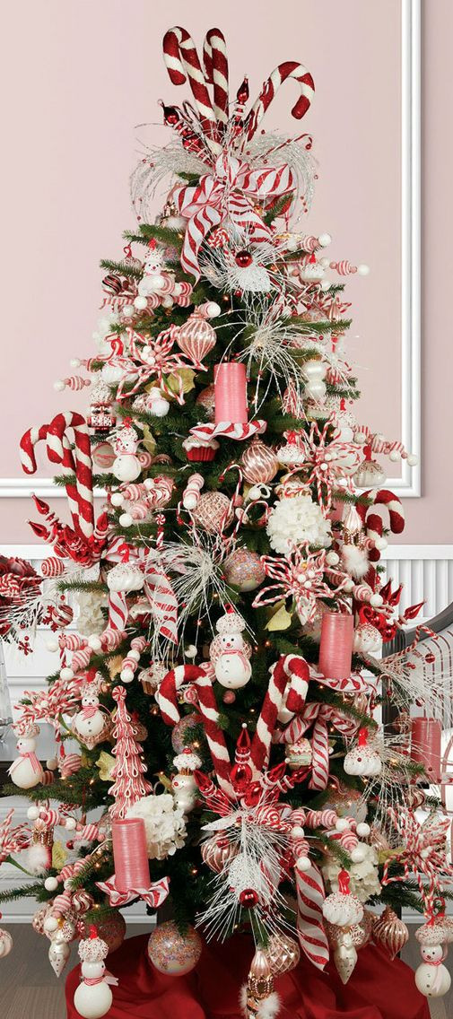 Candy Christmas Tree Topper  18 DIY Candy Cane Christmas Tree Ideas