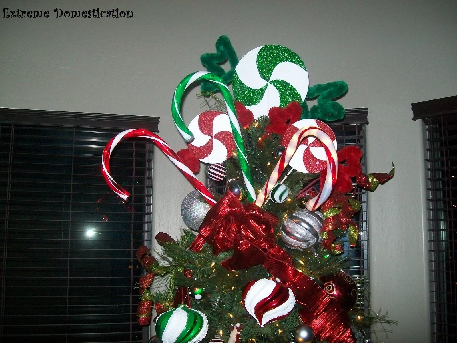 Candy Christmas Tree Topper  Extreme Domestication Peppermint Tree Topper
