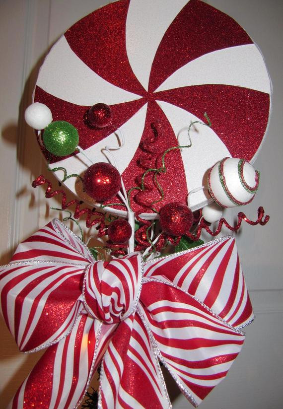 Candy Christmas Tree Topper  Unavailable Listing on Etsy