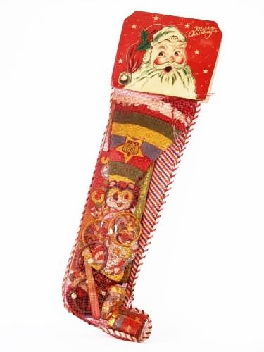 Candy Filled Christmas Stockings  Xmas stockings 1950s and Xmas on Pinterest