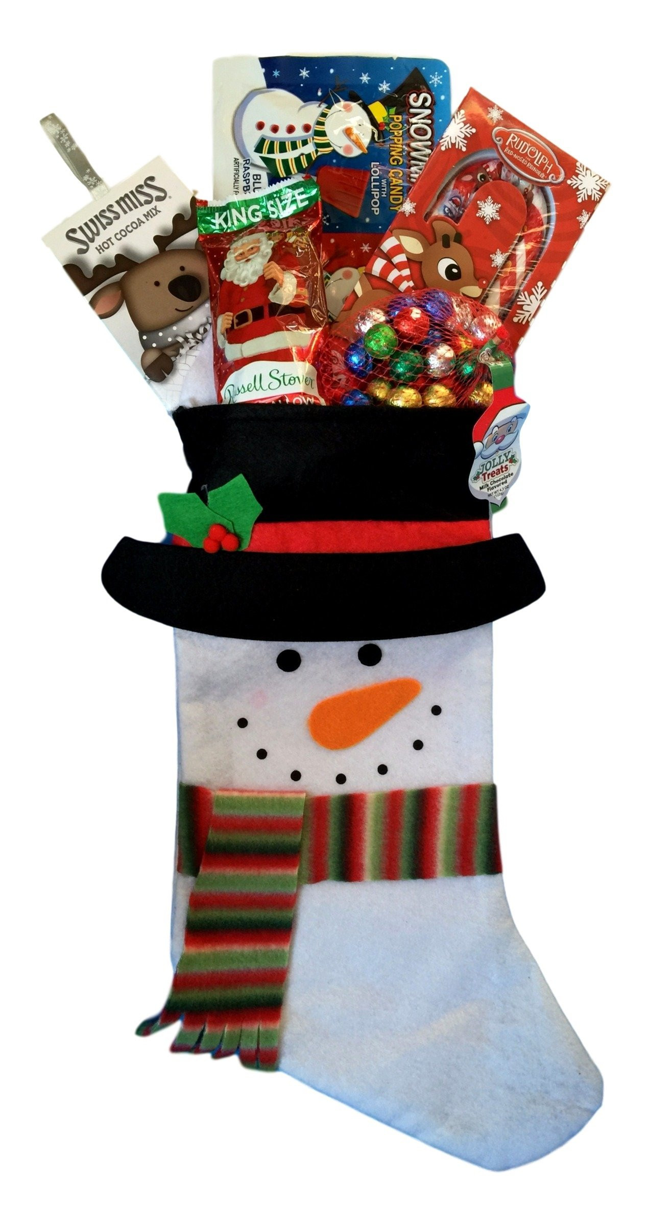 Candy Filled Christmas Stockings  Holiday Christmas Stocking Gift Filled with Fun Candy