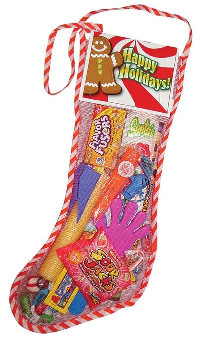Candy Filled Christmas Stockings  18 inch Toy and Candy Filled Net Christmas Stocking