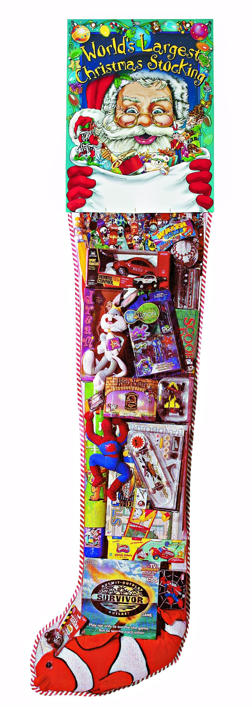 Candy Filled Christmas Stockings  GIANT TOY FILLED STOCKINGS 6 Foot Stockings