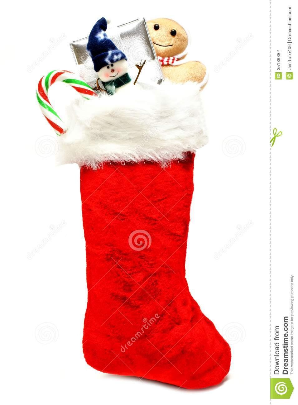 Candy Filled Christmas Stockings  Christmas stocking stock photo Image of ts festive