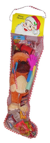 Candy Filled Christmas Stockings  36 inch Toy and Candy Filled Net Christmas Stocking