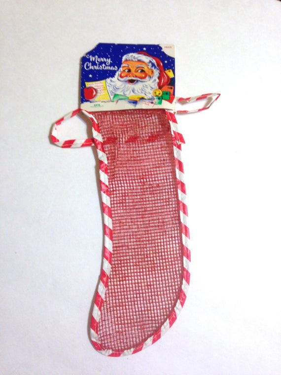 Candy Filled Christmas Stockings Wholesale  retro Christmas stocking red mesh netting clever and old