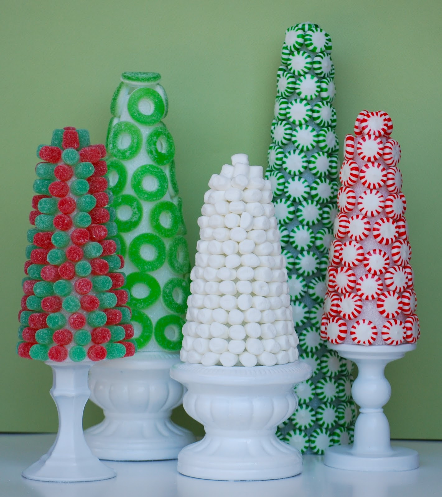 Candy For Christmas  Christmas Candy Trees Amanda Jane Brown