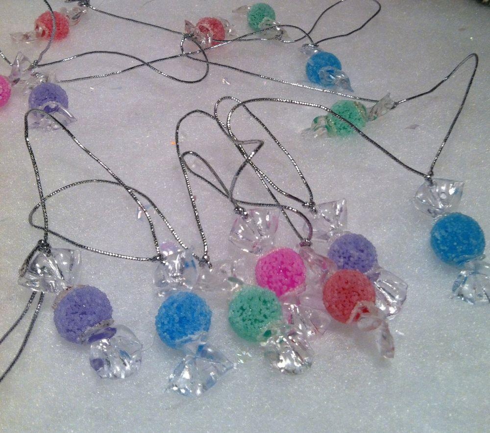 Candy Garland For Christmas Tree  5 Feet w 14 Mini Sugar Coated Gumdrop Candy Christmas