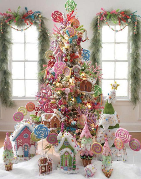 Candy Land Christmas  Candy Themed Christmas Tree Ideas Dot Women