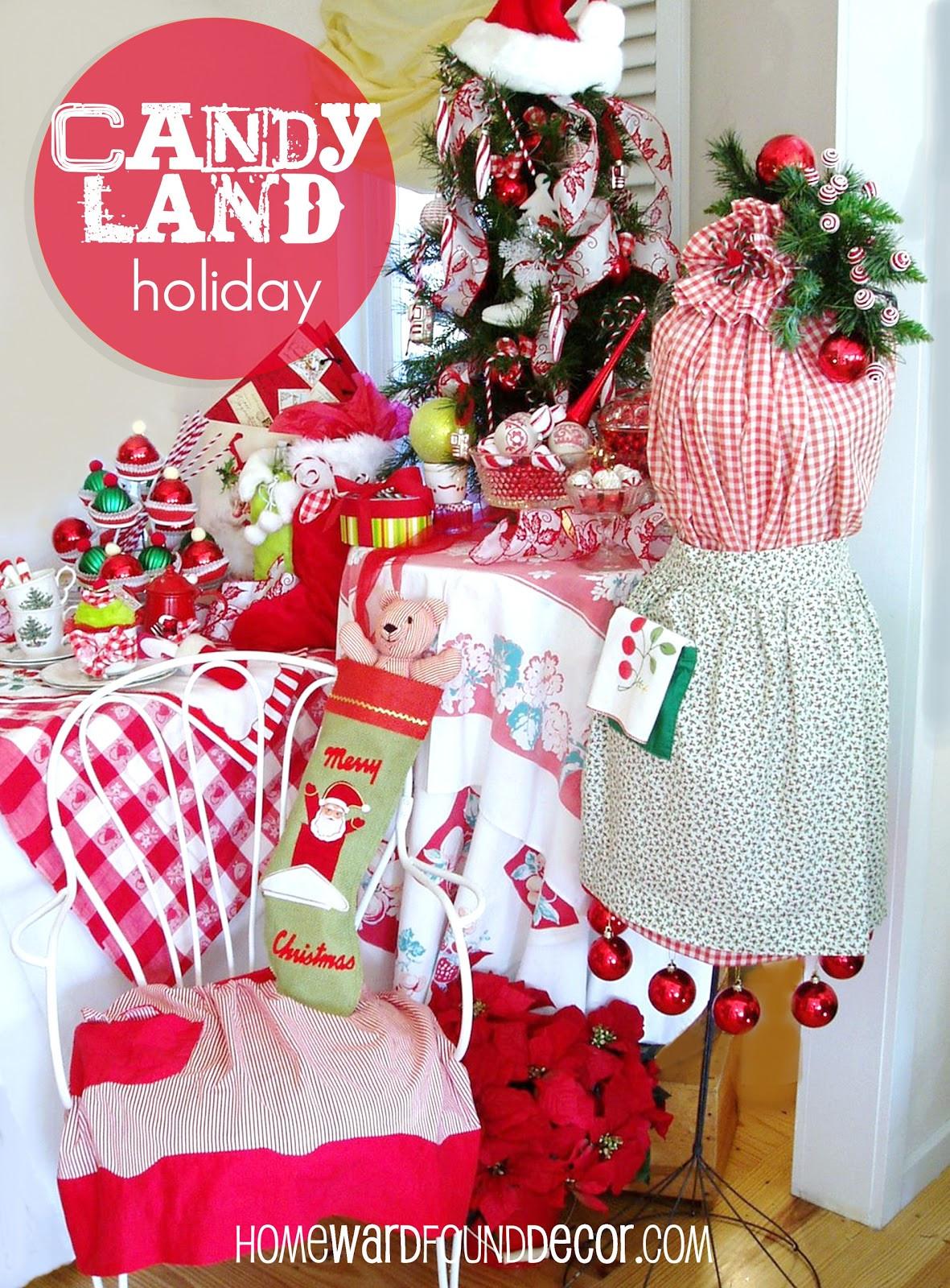 Candy Land Christmas  CandyLand Holiday Tea homewardFOUND decor