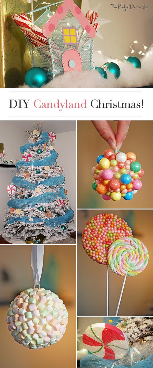 Candy Themed Christmas  Candyland Christmas Theme Tree • The Bud Decorator