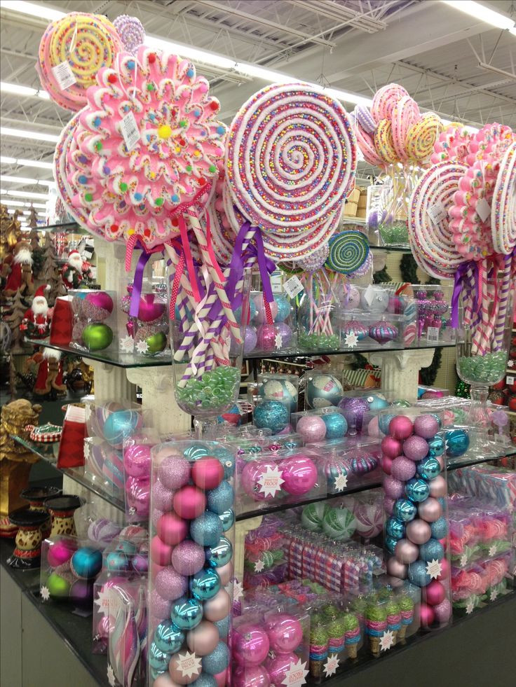 Candy Themed Christmas Decorations  Candy land Christmas items to purchase Bebe Love