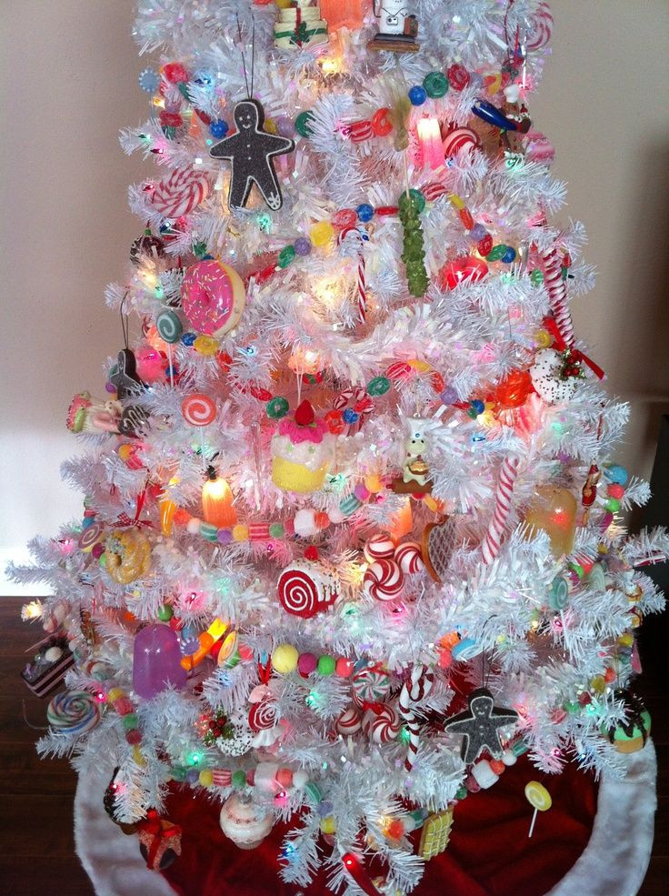 Candy Themed Christmas Decorations  Yummy and Sweet Christmas Tree Ideas