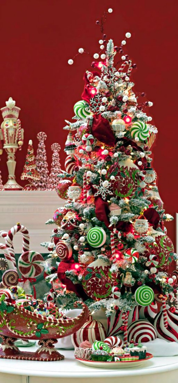 Candy Themed Christmas Decorations  Whimsical Christmas Trees