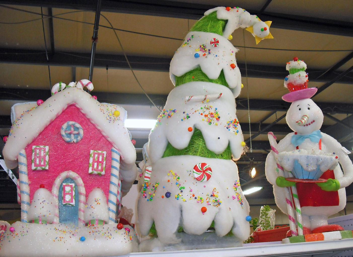Candy Themed Christmas Decorations  Studio B UberArt Twelve Days of Christmas Trees Day 10