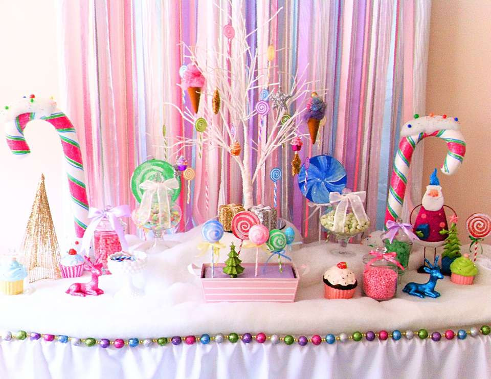 "Candy Themed Christmas  Christmas Holiday ""A Glittery Christmas Candy Land"