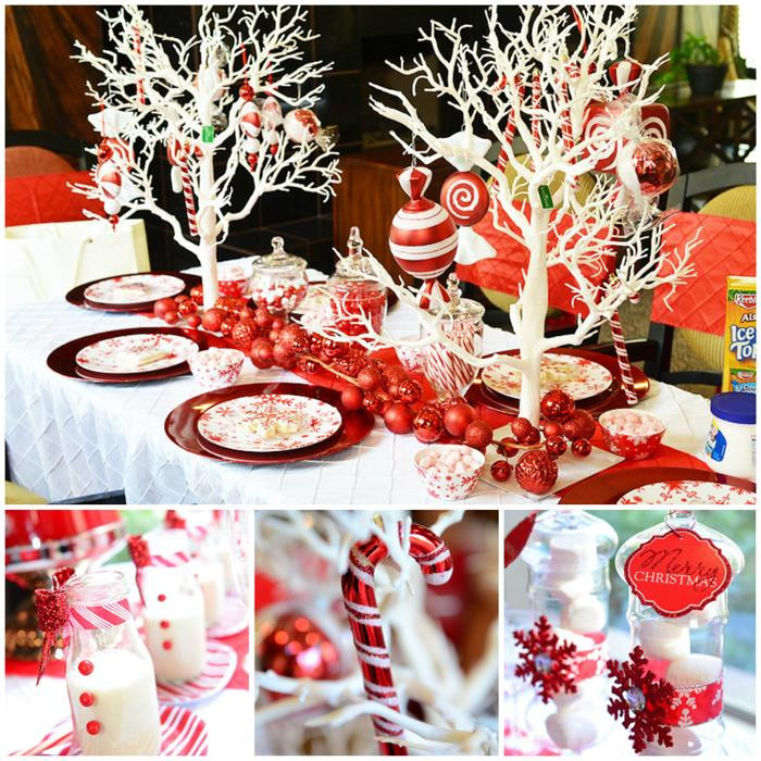 Candy Themed Christmas  Kara s Party Ideas Candy Cane Winter Wonderland Party