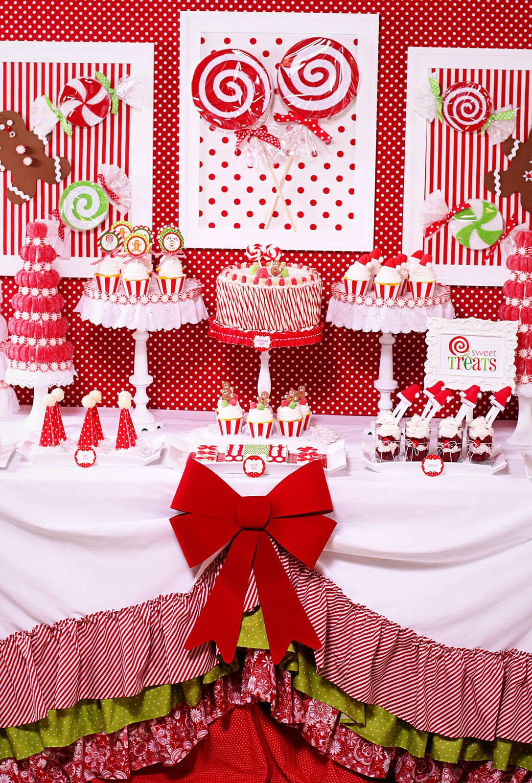 Candy Themed Christmas  Amanda s Parties To Go Candy Christmas Dessert Table