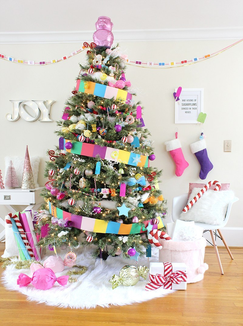 Candy Themed Christmas  Candy Land Christmas Tree Lines Across