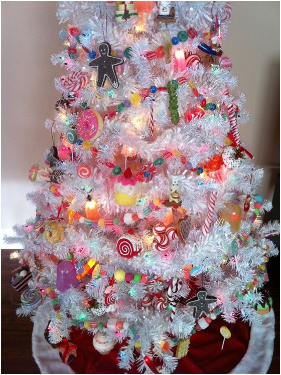 Candy Themed Christmas Tree  Ideas for Christmas Decoration Themes
