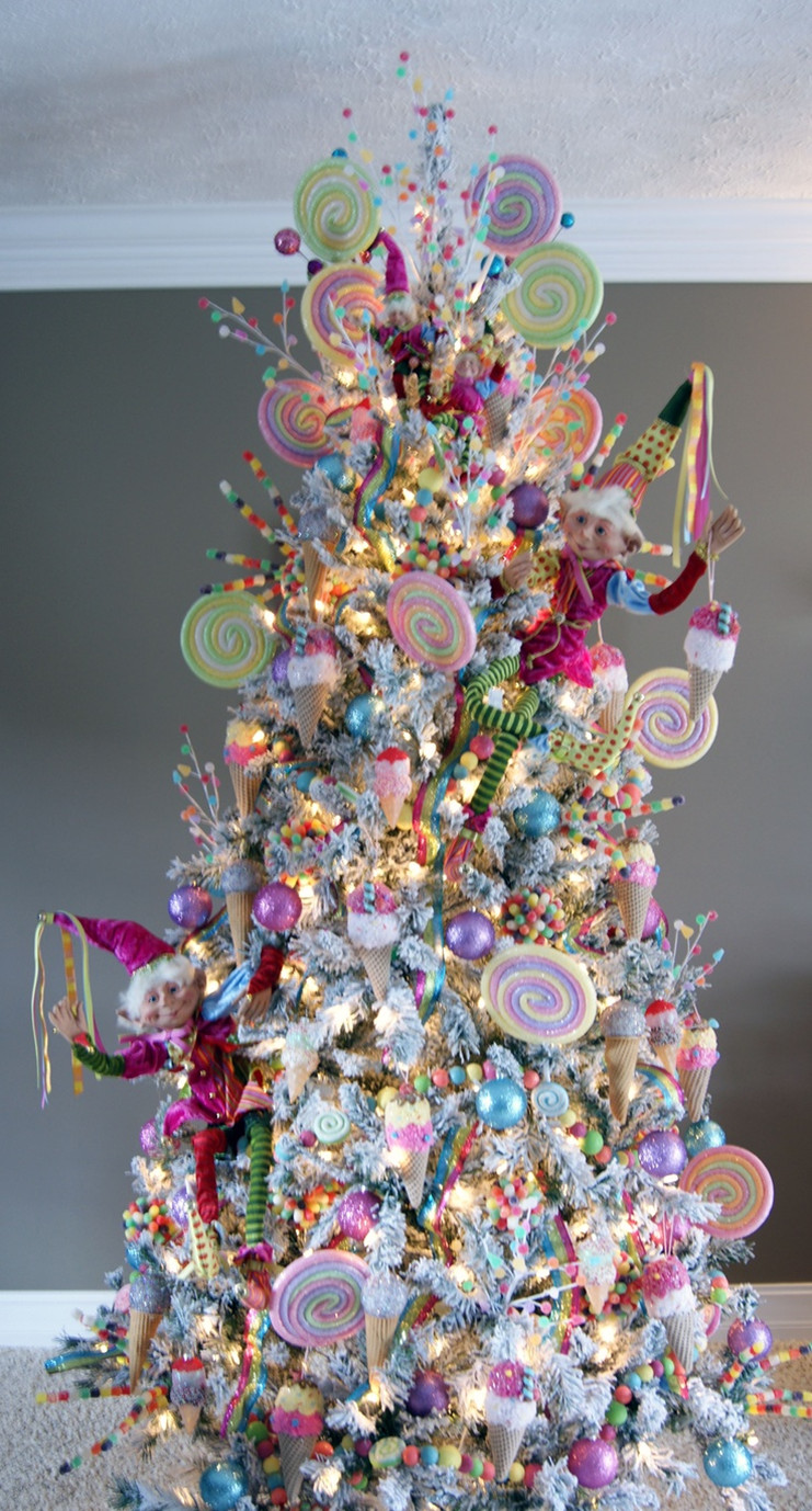 Candy Themed Christmas Tree  Sweet tree Celebrations Christmas ideas