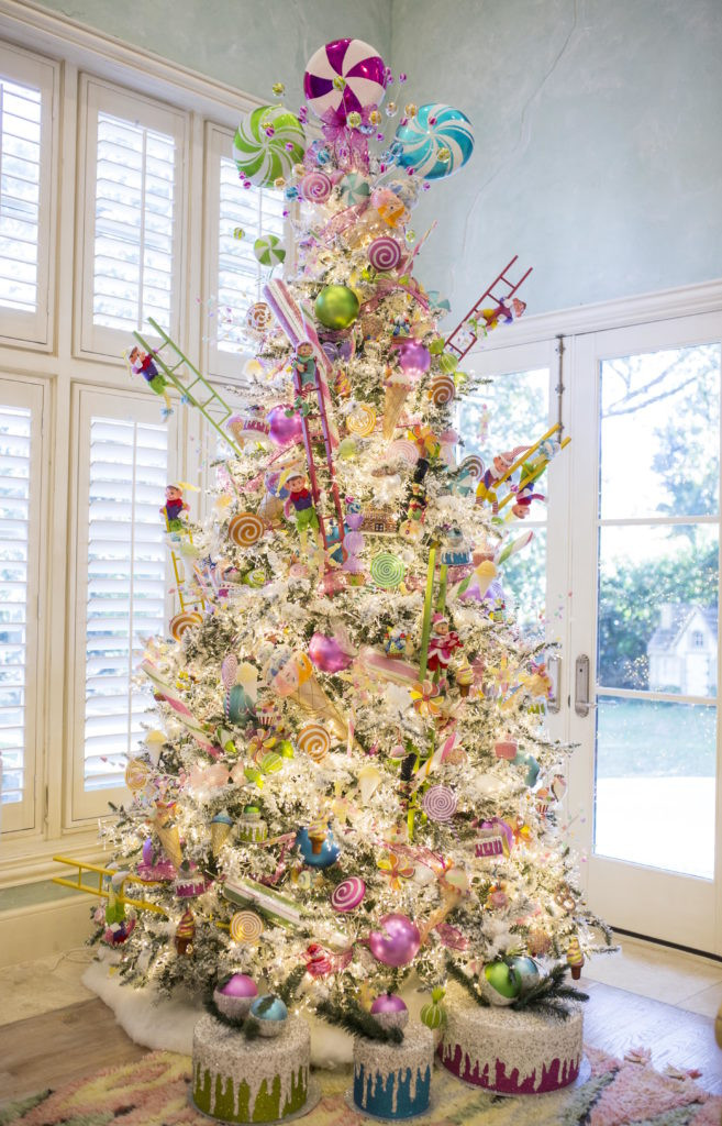 Candy Themed Christmas Tree  The Candy Land Christmas Family Room Part 1